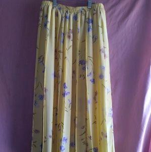Leslie Fay Dresses yellow floral vintage skirt